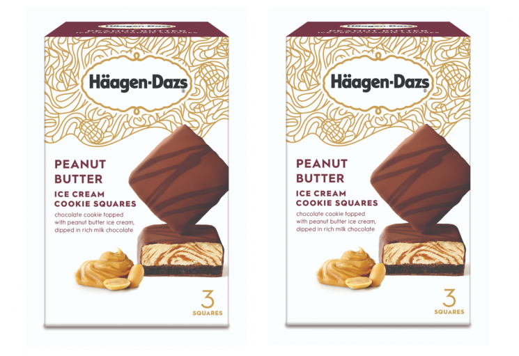 These New Haagen-Dasz Peanut Butter Cookie Ice Cream Squares Are A Twist On A Classic