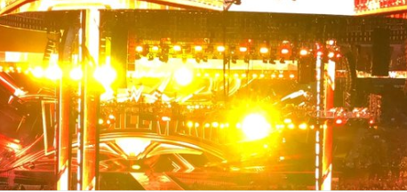 Furious WWE fans chant 'we can't see' at WrestleMania 35 as yellow lights 'ruin view of ring'