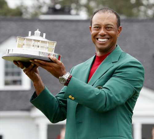 Tiger Woods won the Masters, his first major championship in eleven years
