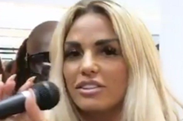 Katie Price belts out Jagged Edge's Next Wifey at launch of new cosmetic studio