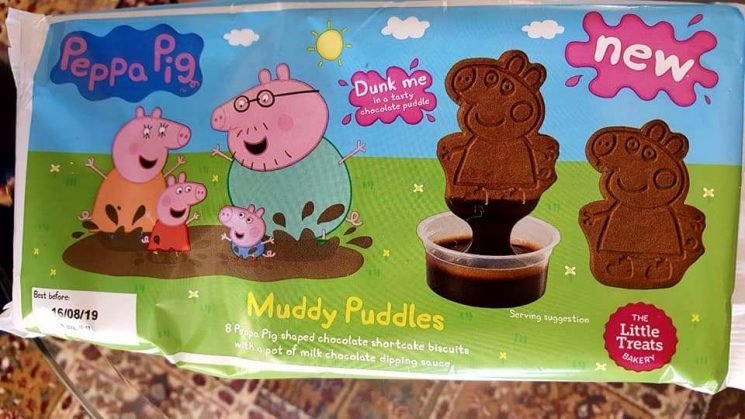 Home Bargains is selling Peppa Pig biscuits with a chocolate dipping sauce – and they're a bargain