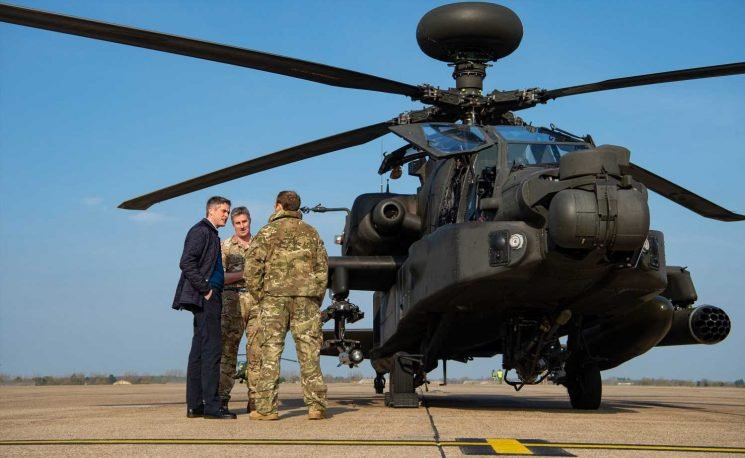 Britain sends 5 top of the range UK attack helicopters to Estonia to scare off Russia