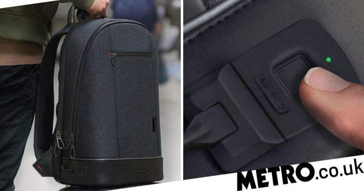 This backpack has a fingerprint scanner to stop thieves nicking your stuff