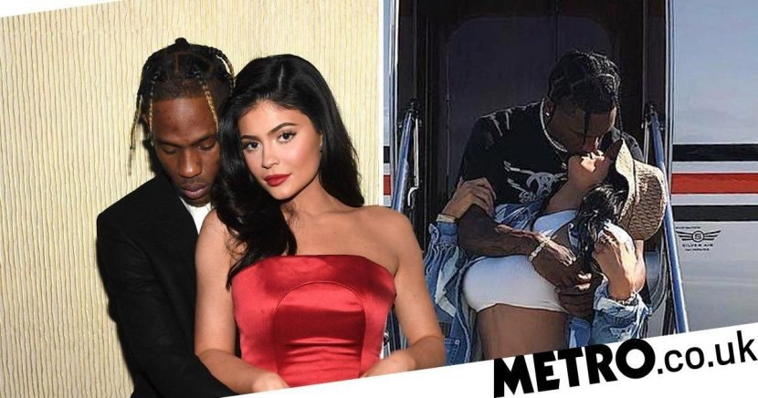 Kylie Jenner and Travis Scott share sweet kisses at Coachella 2019