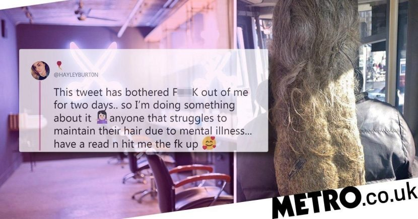 Student hairdresser offers free services to those with mental health conditions