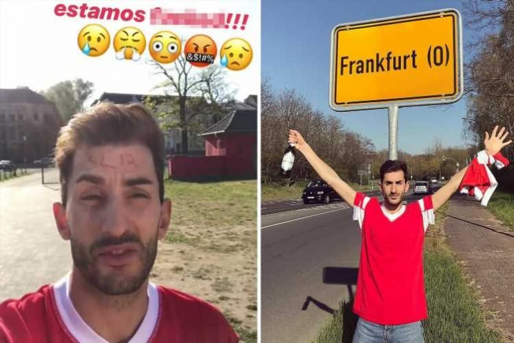 Bungling Benfica fans drive 1,800 miles to the WRONG Frankfurt for Europa League clash… but makes it to game after frantic six-hour dash