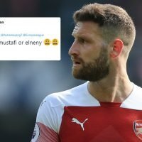 Arsenal fans fear hapless Mustafi will have to start against Napoli with Koscielny and Xhaka in battle to be fit