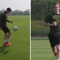 Crocked Holding steps up recovery from horror knee injury alone at Arsenal training as battle back from surgery continues