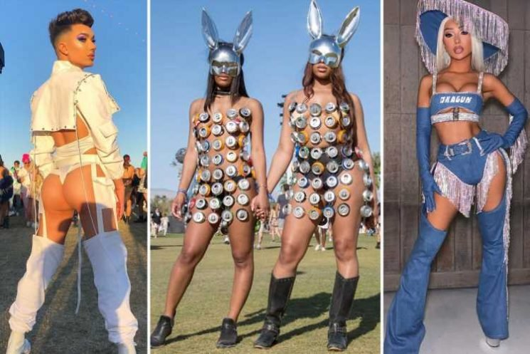Craziest Coachella outfits ever, including a beer can dress and pompom bikini