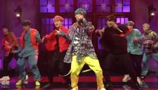 BTS Performs 'Mic Drop' On 'SNL' & The Audience Was Here For It