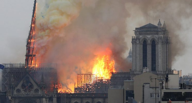'A part of all of us is burning': Historic Notre Dame Cathedral in Paris catches fire