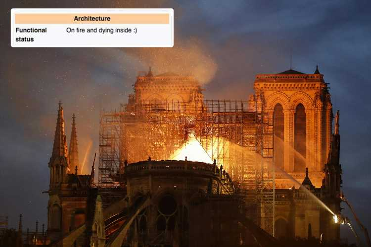 Notre Dame fire – Internet users mock blaze on cathedral's Wikipedia page after inferno rocks Paris