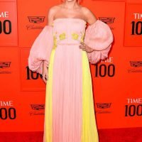 Taylor Swift Looks Angelic in (Another!) Pastel Dress While Posing on Time 100 Red Carpet