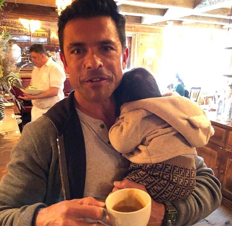 Mark Consuelos Cradles Andy Cohen's Son as 2-Month-Old Rocks $400 Fendi Pants