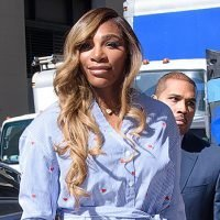 Serena Williams Narrowly Escapes Wardrobe Malfunction As Her Dress Battles Windy Weather