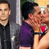 EastEnders star Aaron Sidwell reveals he's ENGAGED to girlfriend with loved-up snap