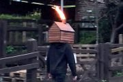 Man with a disco shed on his head stalks the city streets – and why not?