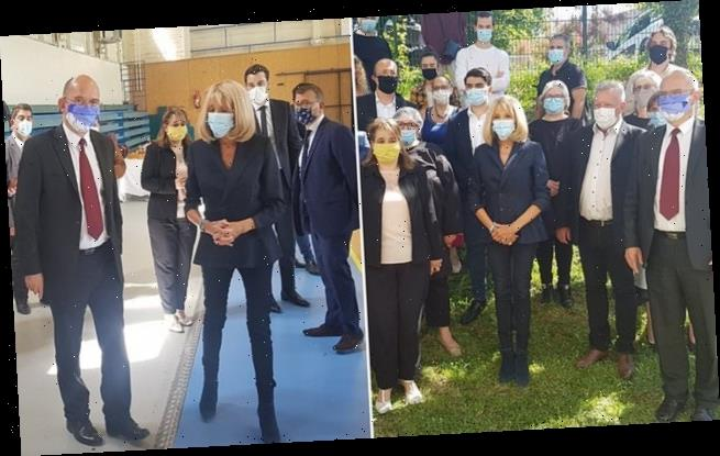 Brigitte Macron Wore A Mask For Her First Outing Since French Lockdown Wstale Com